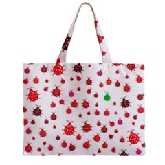 Beetle Animals Red Green Fly Zipper Mini Tote Bag