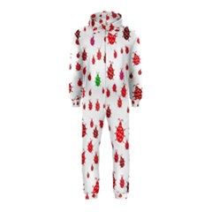 Beetle Animals Red Green Fly Hooded Jumpsuit (kids)