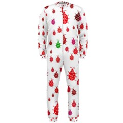 Beetle Animals Red Green Fly Onepiece Jumpsuit (men)