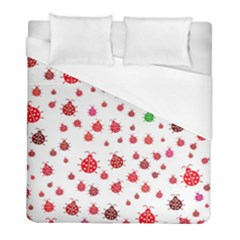 Beetle Animals Red Green Fly Duvet Cover (full/ Double Size)