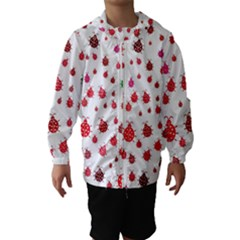 Beetle Animals Red Green Fly Hooded Wind Breaker (kids)