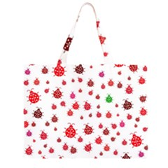 Beetle Animals Red Green Fly Large Tote Bag