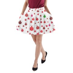 Beetle Animals Red Green Fly A Line Pocket Skirt