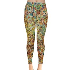 Art Modern Painting Acrylic Canvas Leggings