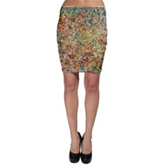 Art Modern Painting Acrylic Canvas Bodycon Skirt