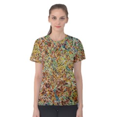 Art Modern Painting Acrylic Canvas Women s Cotton Tee