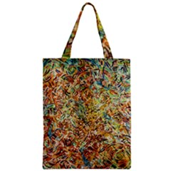 Art Modern Painting Acrylic Canvas Zipper Classic Tote Bag