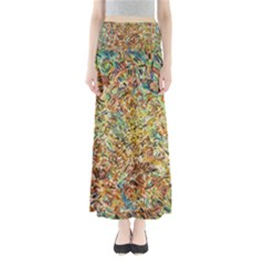 Art Modern Painting Acrylic Canvas Maxi Skirts