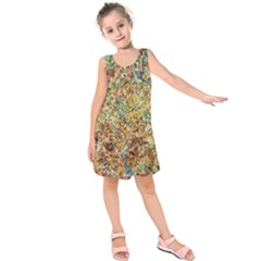 Art Modern Painting Acrylic Canvas Kids  Sleeveless Dress