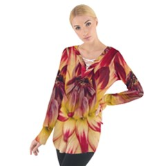 Bloom Blossom Close Up Flora Women s Tie Up Tee