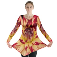 Bloom Blossom Close Up Flora Long Sleeve Tunic
