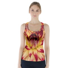 Bloom Blossom Close Up Flora Racer Back Sports Top