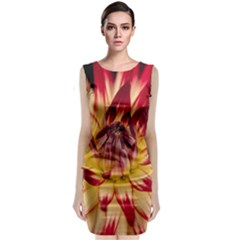 Bloom Blossom Close Up Flora Sleeveless Velvet Midi Dress