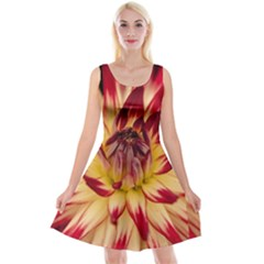 Bloom Blossom Close Up Flora Reversible Velvet Sleeveless Dress