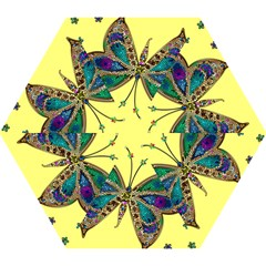 Butterfly Mosaic Yellow Colorful Mini Folding Umbrellas