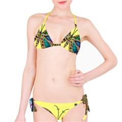 Butterfly Mosaic Yellow Colorful Bikini Set