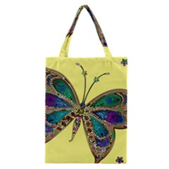 Butterfly Mosaic Yellow Colorful Classic Tote Bag