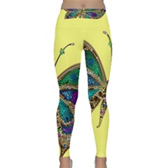 Butterfly Mosaic Yellow Colorful Classic Yoga Leggings