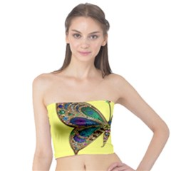 Butterfly Mosaic Yellow Colorful Tube Top