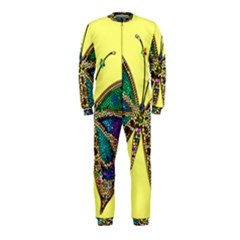 Butterfly Mosaic Yellow Colorful Onepiece Jumpsuit (kids)