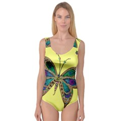 Butterfly Mosaic Yellow Colorful Princess Tank Leotard
