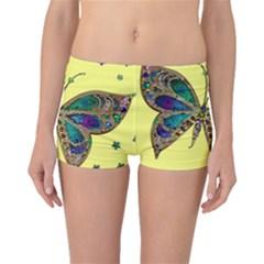 Butterfly Mosaic Yellow Colorful Boyleg Bikini Bottoms