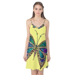 Butterfly Mosaic Yellow Colorful Camis Nightgown