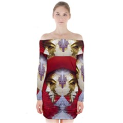 Carnival Düsseldorf Old Town Long Sleeve Off Shoulder Dress