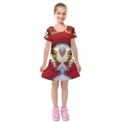 Carnival Düsseldorf Old Town Kids  Short Sleeve Velvet Dress