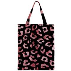Skin5 Black Marble & Red & White Marble (r) Zipper Classic Tote Bag