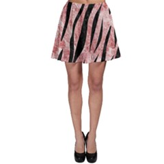 Skin3 Black Marble & Red & White Marble (r) Skater Skirt