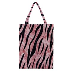 Skin3 Black Marble & Red & White Marble (r) Classic Tote Bag