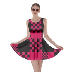 Cube Square Block Shape Creative Skater Dress