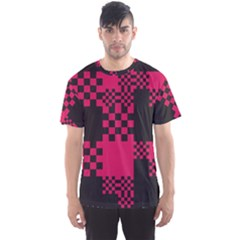 Cube Square Block Shape Creative Men s Sport Mesh Tee