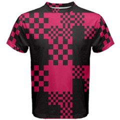 Cube Square Block Shape Creative Men s Cotton Tee