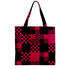 Cube Square Block Shape Creative Zipper Grocery Tote Bag