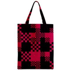 Cube Square Block Shape Creative Zipper Classic Tote Bag