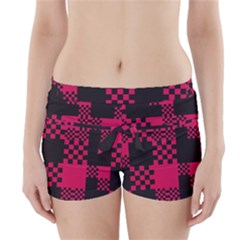 Cube Square Block Shape Creative Boyleg Bikini Wrap Bottoms