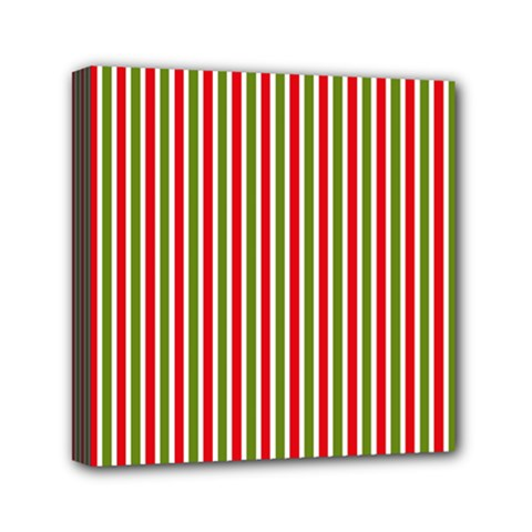 Pattern Background Red White Green Mini Canvas 6  X 6