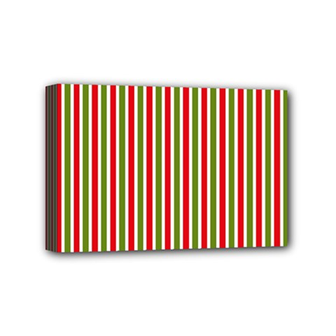 Pattern Background Red White Green Mini Canvas 6  x 4