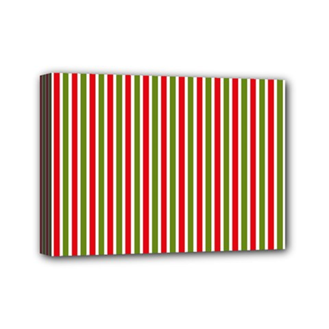 Pattern Background Red White Green Mini Canvas 7  X 5