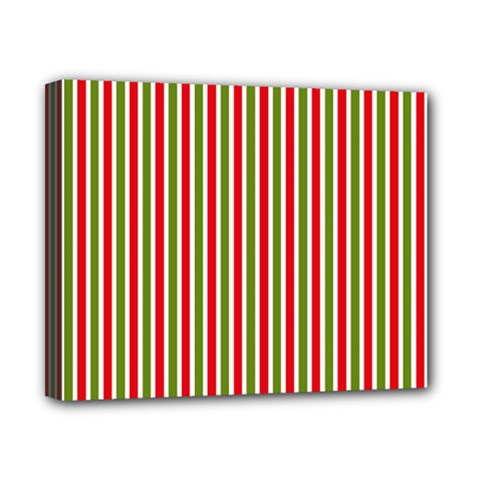 Pattern Background Red White Green Canvas 10  X 8