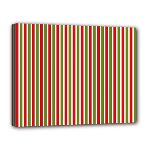 Pattern Background Red White Green Canvas 14  X 11