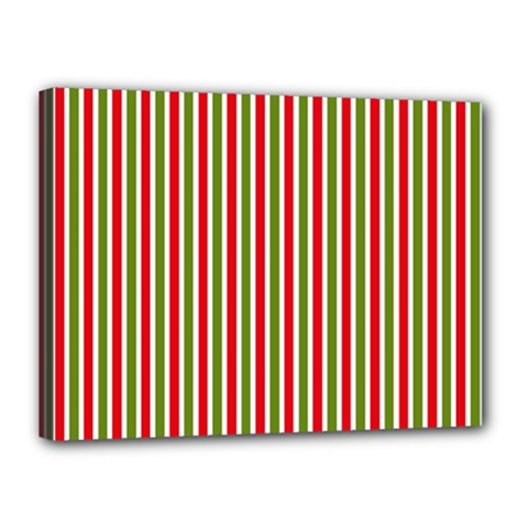 Pattern Background Red White Green Canvas 16  X 12