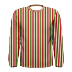 Pattern Background Red White Green Men s Long Sleeve Tee