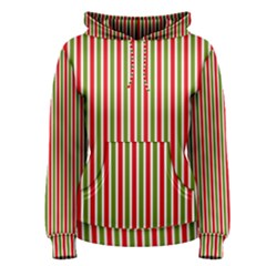 Pattern Background Red White Green Women s Pullover Hoodie