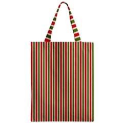 Pattern Background Red White Green Zipper Classic Tote Bag