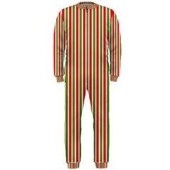 Pattern Background Red White Green Onepiece Jumpsuit (men)