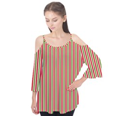 Pattern Background Red White Green Flutter Tees