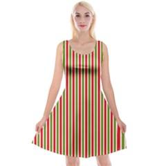 Pattern Background Red White Green Reversible Velvet Sleeveless Dress